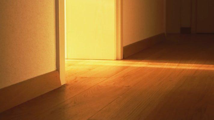 Laminat auf einer Fußbodenheizung verlegt